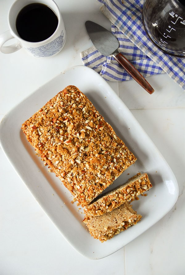Brown Sugar Almond Streusel Bread-- thefrostedvegan-6