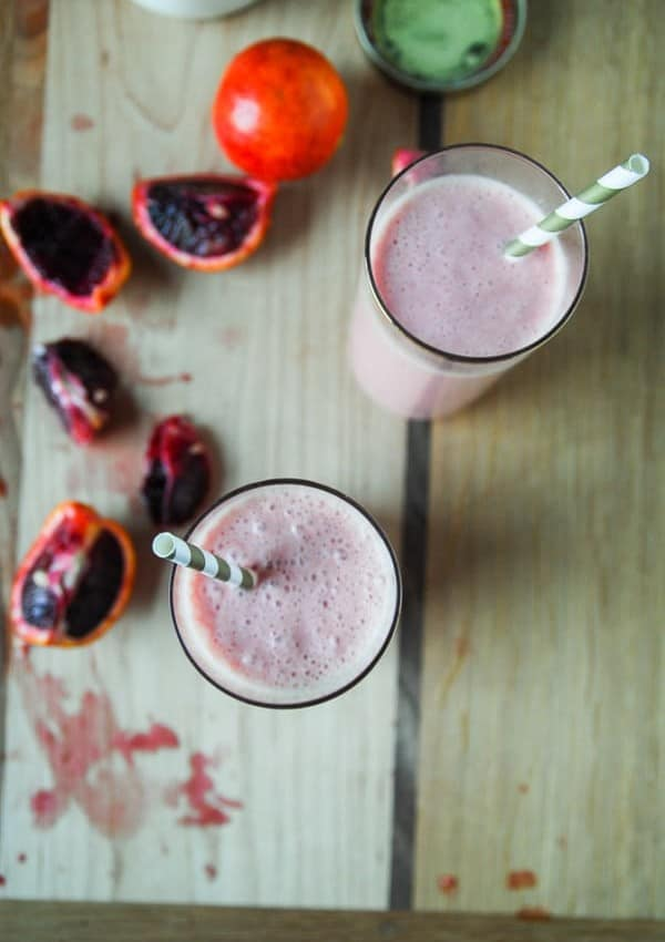 Creamy Blood Orange Tropical Smoothie//heartofabaker.com
