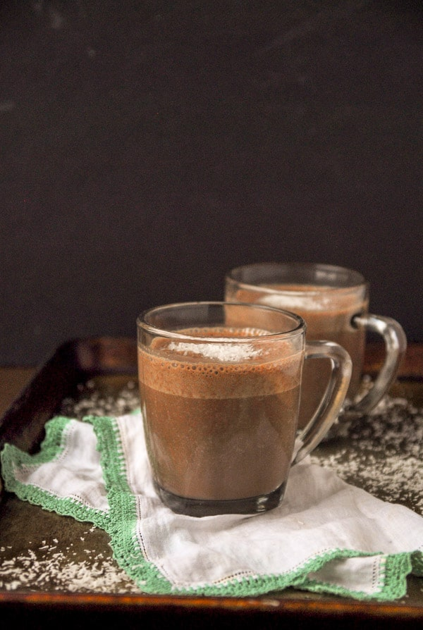 Creamy coconut Vegan Hot Chocolate