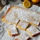 Vegan Lemon Bars with Shortbread Crust//heartofabaker.com
