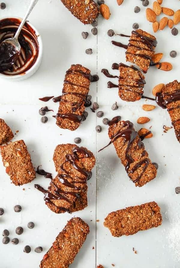 Vegan Almond Joy Oat Bran Granola Bars