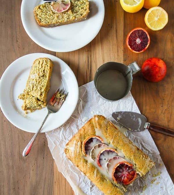 Vegan Lemon Poppy Seed Pound Cake