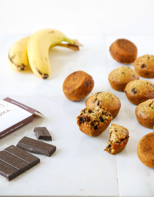 Steel cut oats are the perfect base for a hearty banana vegan steel cut oat muffins studded with dark chocolate chunks! Vegan, GF option