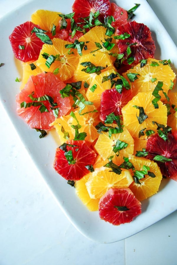 Basil Citrus Salad with Balsamic Jam Dressing//heartofabaker.com