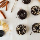 Chocolate Ginger Spice Doughnuts with Chocolate Glaze--heartofabaker.com