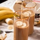 Caramelized Banana and Peanut Butter Milkshake //heartofabaker.com