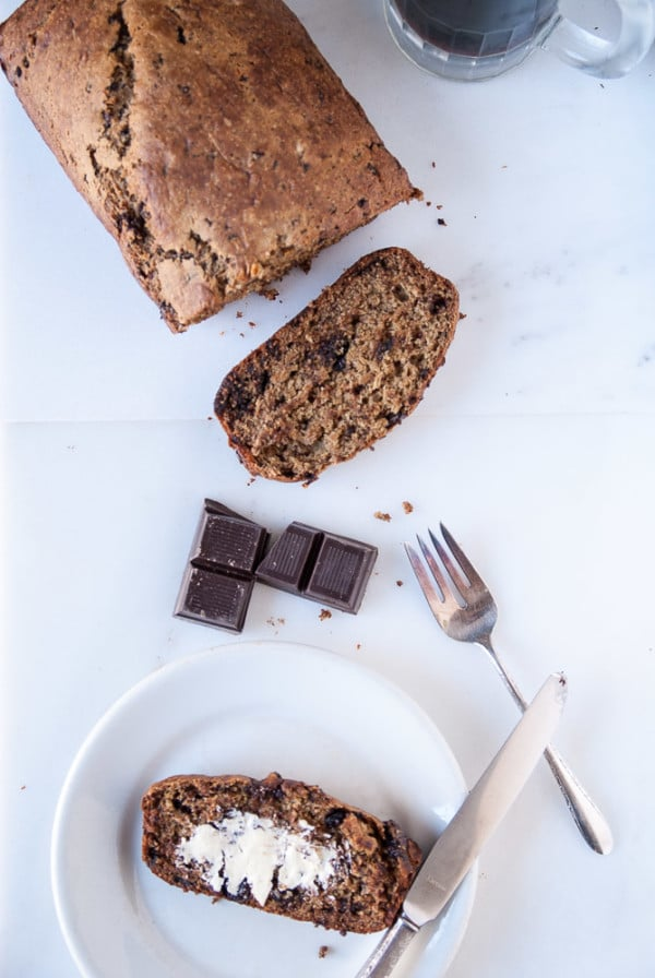 Dark Chocolate Stout Banana Bread //heartofabaker.com