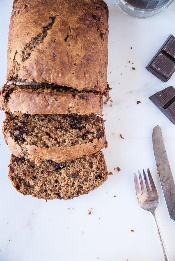 Dark Chocolate Stout Banana Bread //heartofabaker.com