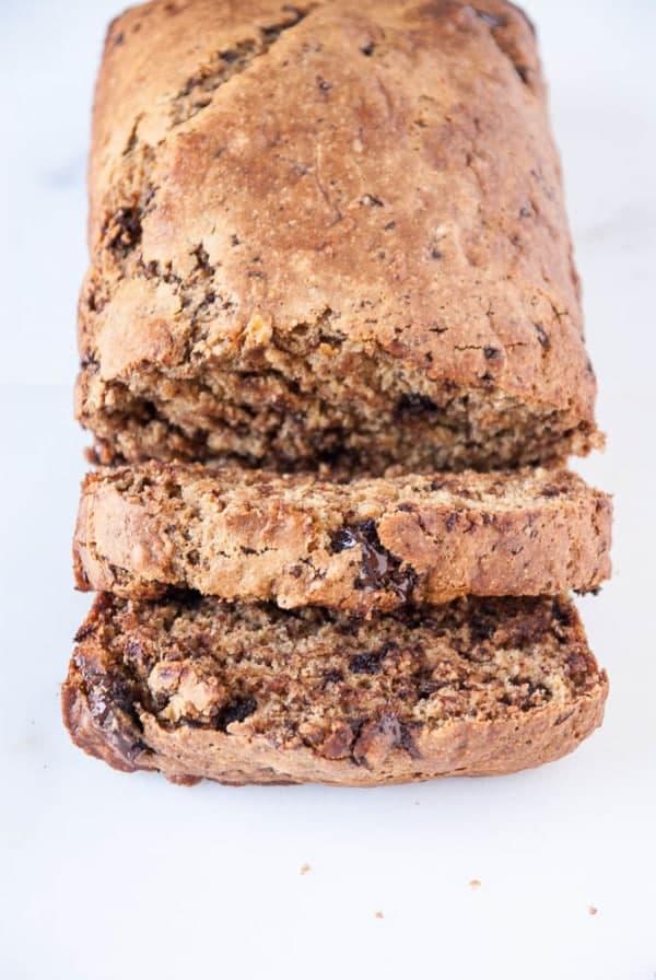 Vegan Dark Chocolate Stout Banana Bread