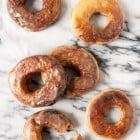 Vegan Vanilla Glazed Yeast Doughnuts//heartofabaker.com