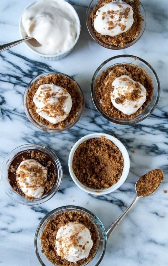 Peanut Butter Vegan S'mores Parfaits