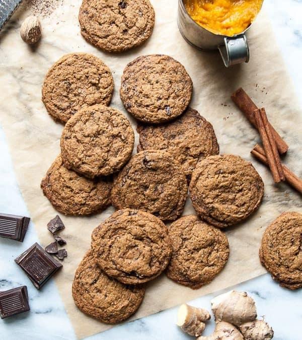 Dark Chocolate Pumpkin Vegan Gingersnaps