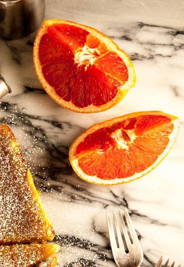 Grapefruit Tart with Vegan Shortbread Crust