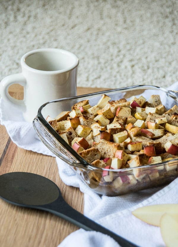 Apple Cinnamon Vegan French Toast Casserole