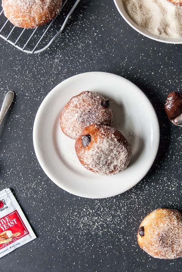 Vegan Nutella Filled Doughnuts