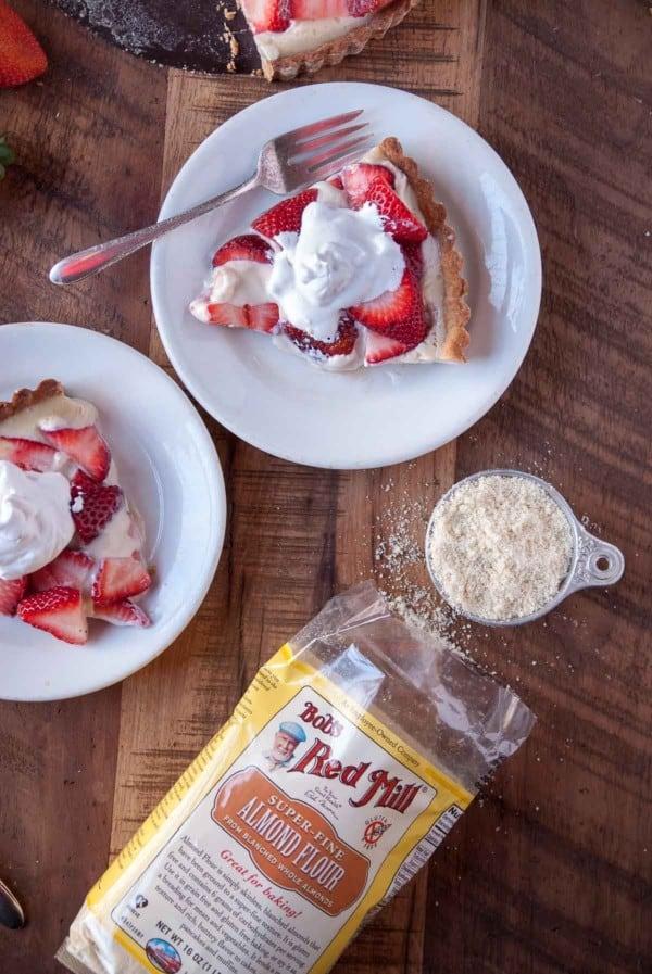Strawberry Coconut Cream Tart