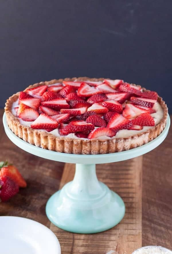 Strawberry Coconut Cream Tart