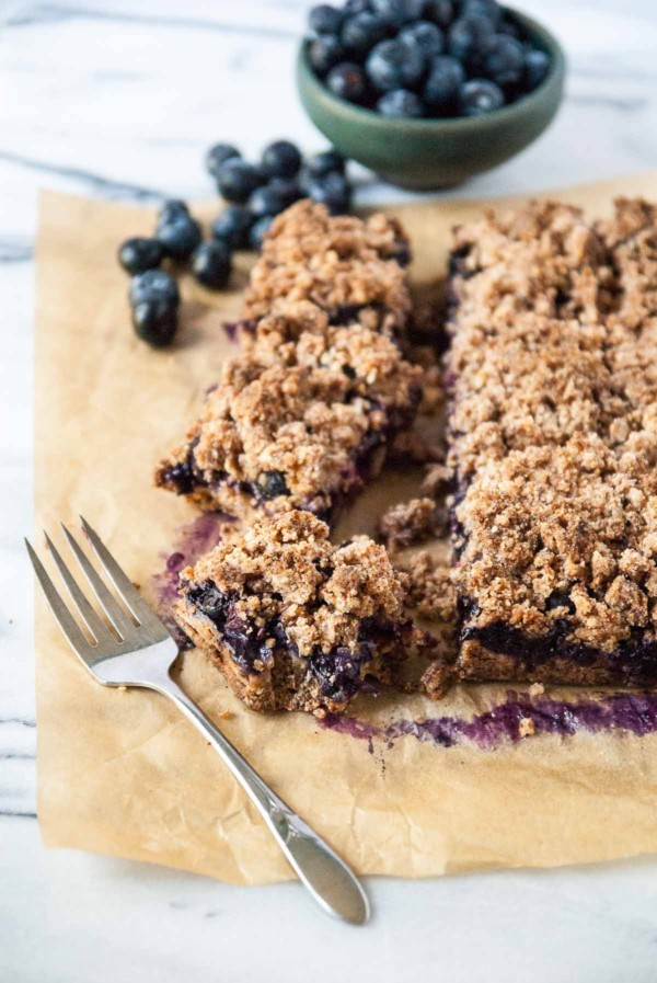 Vegan Blueberry Crisp Bars