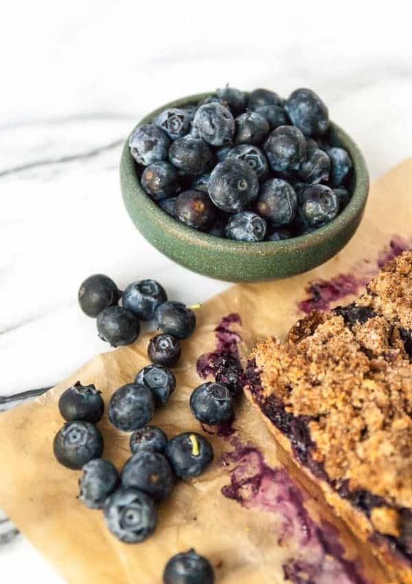 Vegan Blueberry Crisp Bars