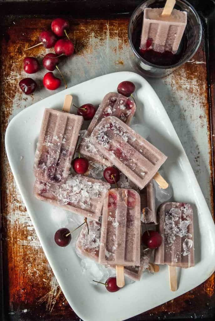 Boozy Cherry Red Wine Popsicles