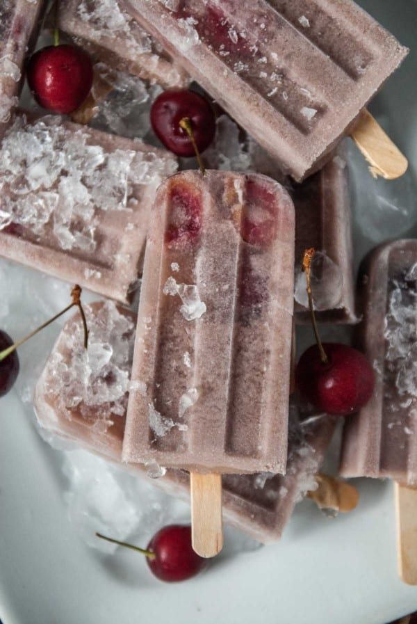 Boozy Cherry Red Wine Popsicles