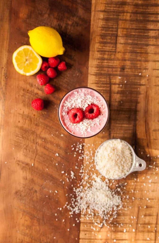 Creamy Raspberry Coconut Smoothie