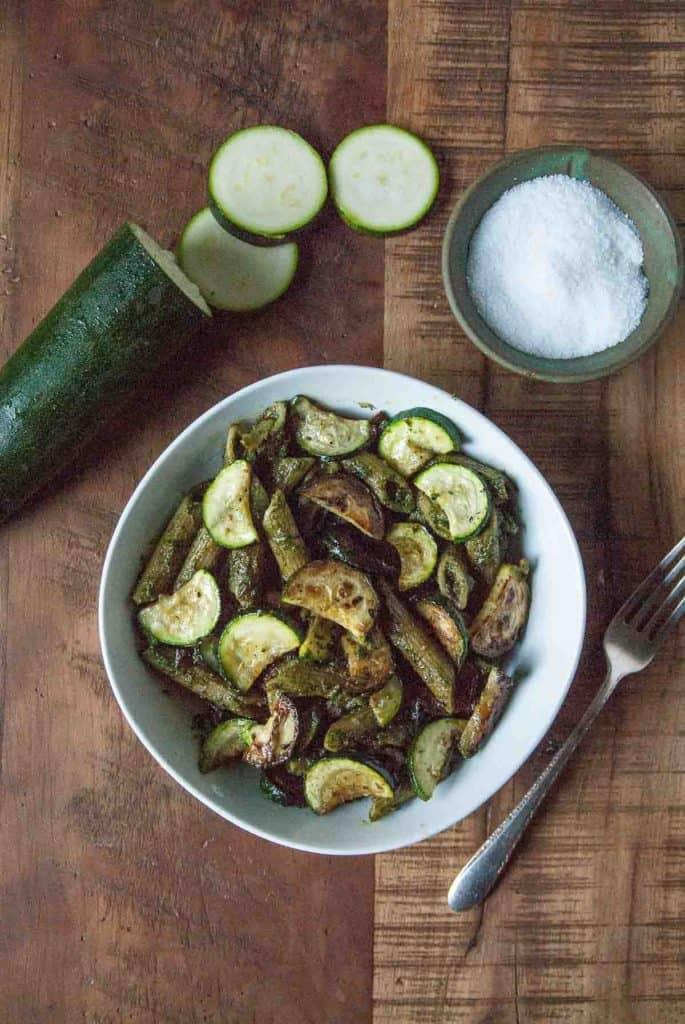 Summery Zucchini Vegan Pesto Pasta