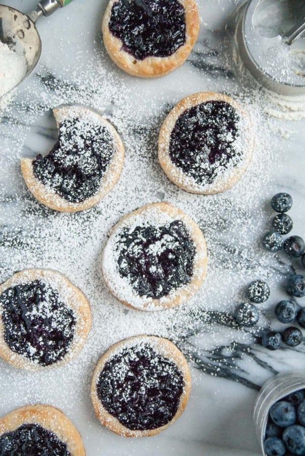 Vegan Blueberry Ginger Danishes-54