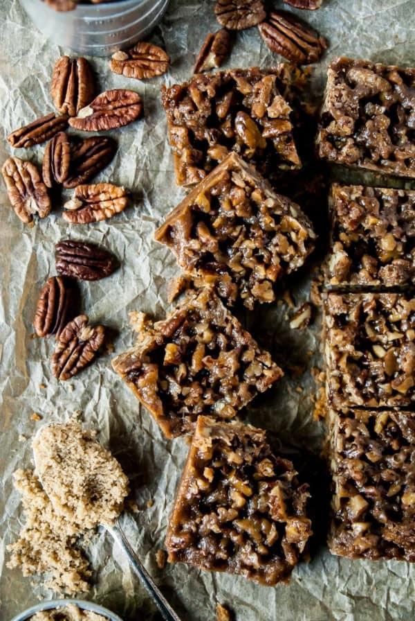 Vegan Maple Pecan Bars close up