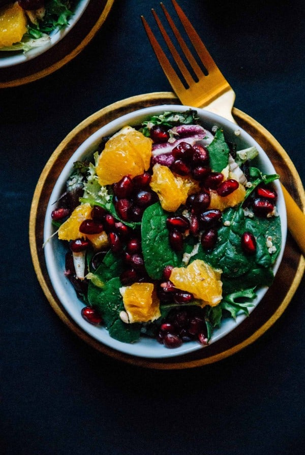 Winter Quinoa Citrus Salad with Creamy Lemon Tahini Dressing- A sweet and bright citrus salad, perfect for the winter time with a creamy lemon tahini dressing!