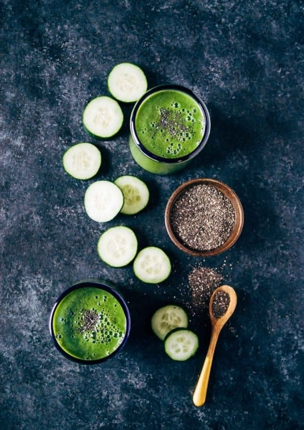 Hydrating Cucumber Spinach Smoothie