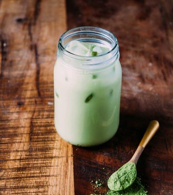 Iced Almond Milk Matcha Latte