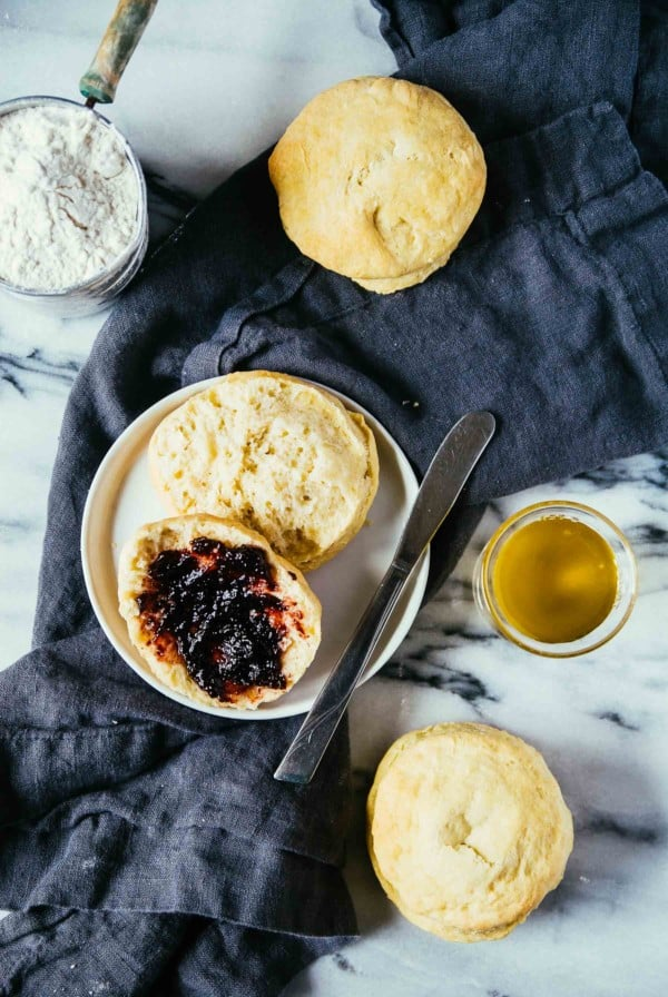 Olive Oil Vegan Biscuits with jam