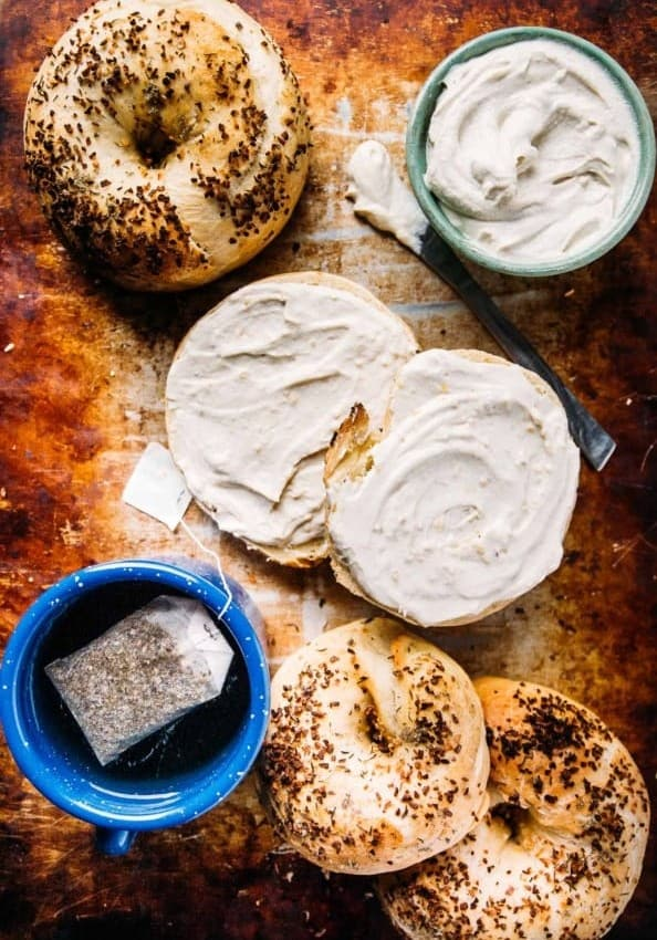 Homemade Herb and Onion Bagels