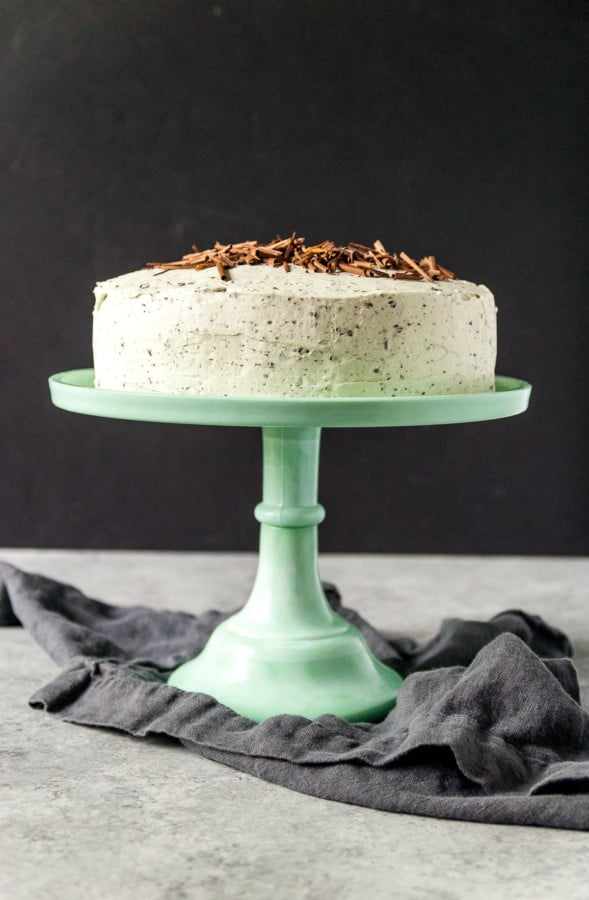 Love mint chocolate ice cream? This vegan mint chocolate chip cake has everything you love about the classic ice cream flavor, but in a decadent, chocolate cake!