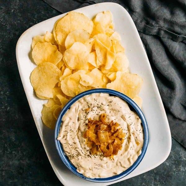 Vegan French Onion Dip (Gluten Free)