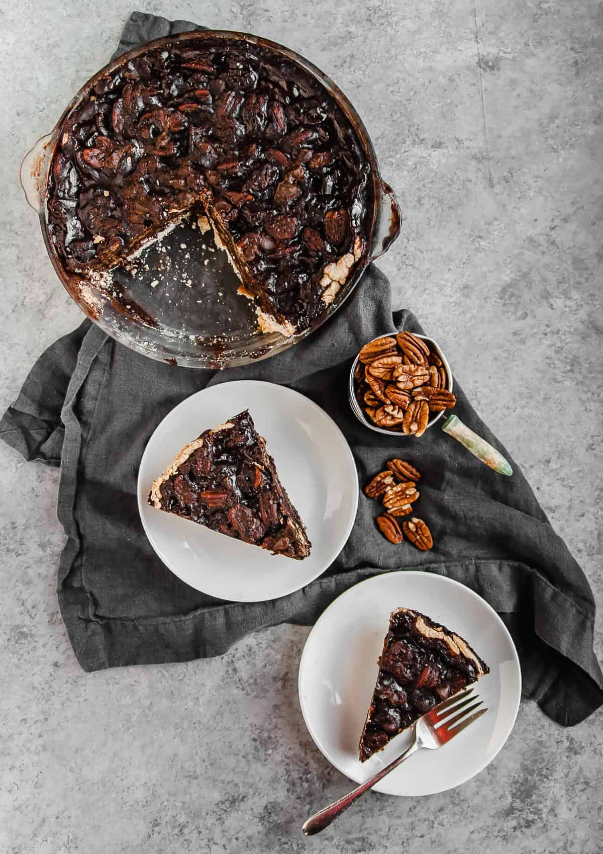 chocolate vegan pecan pie