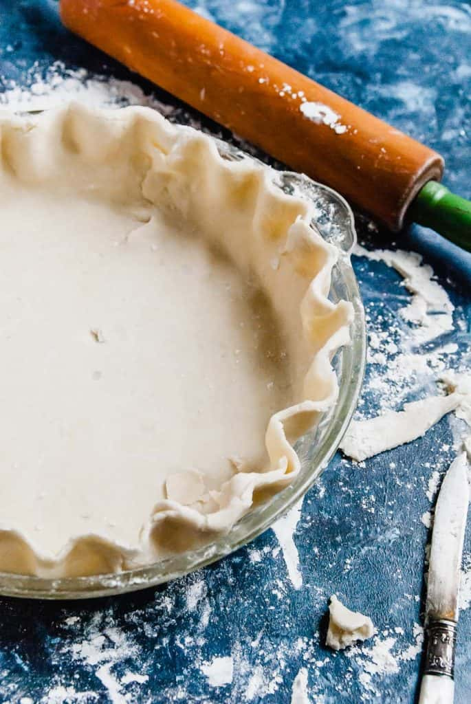 vegan pie crust with rolling pin