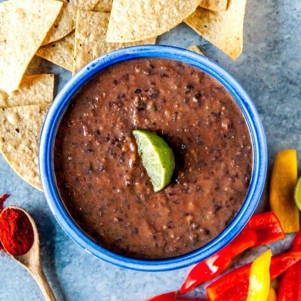 Spicy Vegan Black Bean Dip