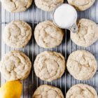 Citrus poppy seed cookies on cooling rack