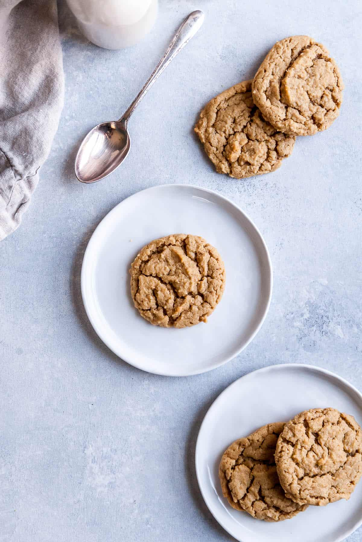 vegan peanut butter cookies on a plate