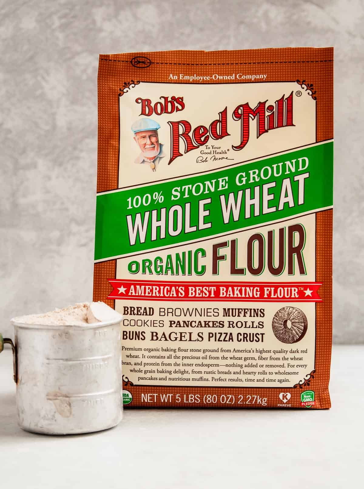 bag of flour with cup