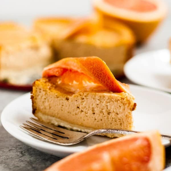 Grapefruit Vegan Cheesecake with Shortbread Crust