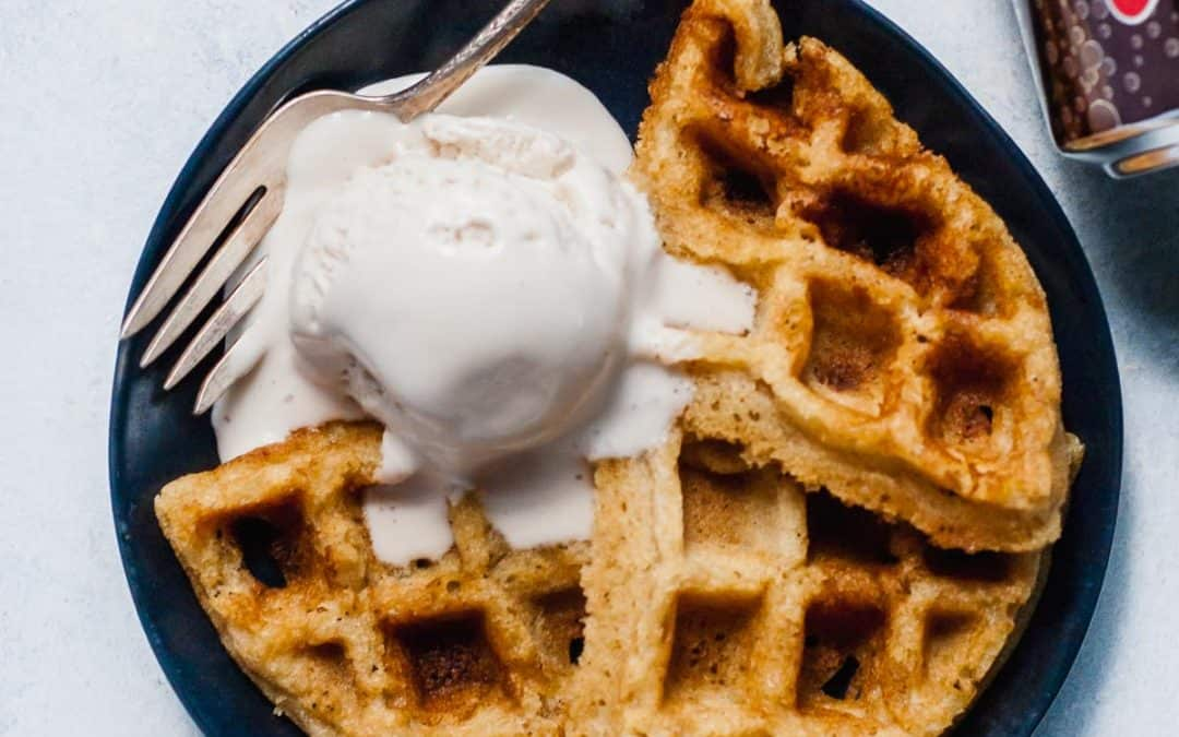 Root Beer Float Waffles (Gluten-free, Vegan)